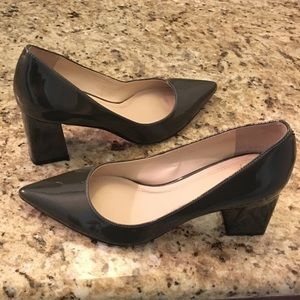 MARC FISHER LTD Grey Black Patent Pumps 6.5